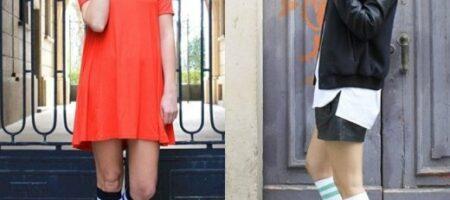 1.Padukan kaos kaki panjang anda dengan rok mini dan juga short pants untuk tampilan yang lebih cute