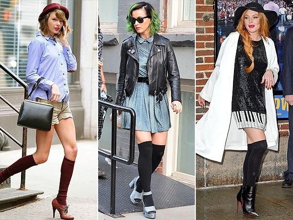 2.Gunakan kaos kaki panjang anda dengan berbagai model sepatu yang anda sukai