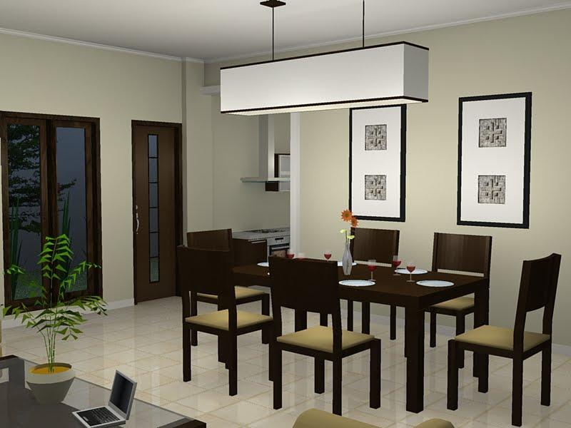 Desain Ruang Makan Minimalis Mewah Dengan Furniture Casual Yang Rapi
